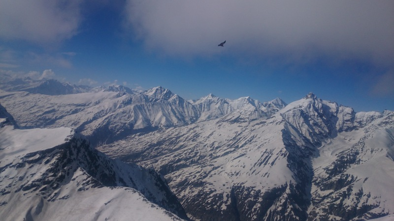 "Looking ""over the back"" from Manali"