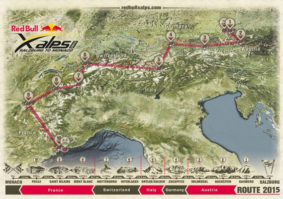 Red-Bull-X-Alps-2015 route